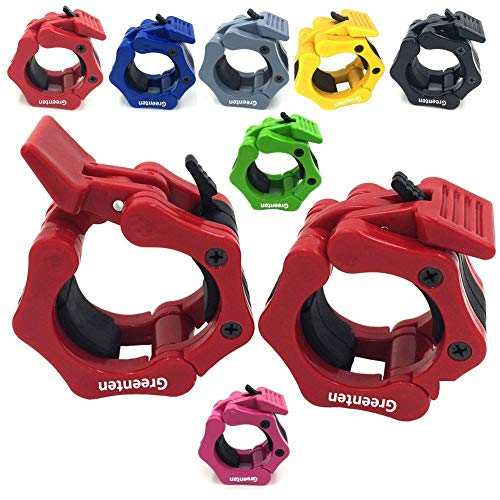 Greententljs Olympic Barbell Collar Quick Release Pair of Locking 2