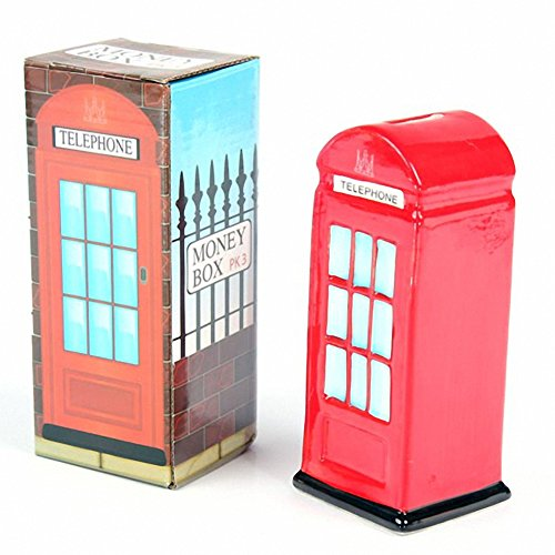 Ceramic London Money Box, Red Telephone Box - NOVELTY...