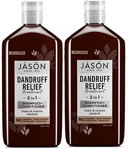 Dandruff Relief 2 in 1 Shampoo and Conditioner (Pack of 2) with Quinoa Protein, Jojoba Seed Oil, and Orange Peel Oil, 12 fl. oz.