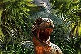 YYTTLL Rompecabezas De 1000 Piezas, Dinosaurios En El Mundo Primitivo Juegos De Rompecabezas De Madera Iq Challenge Memory Puzzle 50X75Cm