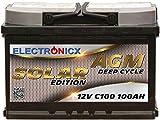 Electronicx Bateria Solar AGM 12v 100ah Solar Edition Barcos Caravana Autocaravana Camper