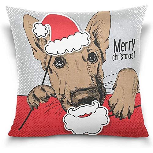 Annays Kussensloop Kerstmis Duitse Herder Hond Dubbele Zijde Slaapbank Auto Slaapkamer 45X45cm