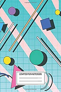 Notebook: 80s Pop Retro Pattern 4 , Journal for Writing, Size 6