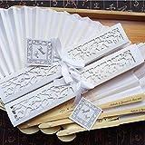 Spitzenfächer, Wedding Silk Fächer im chinesischen Stil Hand Held Fan Silk Folding Fan Tanzparty Fan