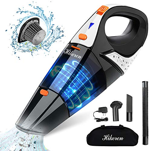 Hikeren Handheld Vacuum, Hand Vacuum Cordless 7Kpa Strong Suction Powered by Li-ion Battery...