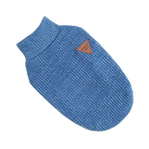 Gen'rico Vestio Disfraz Animales Domestico Lindo Camiseta de Mascota Duradero - Azul, M