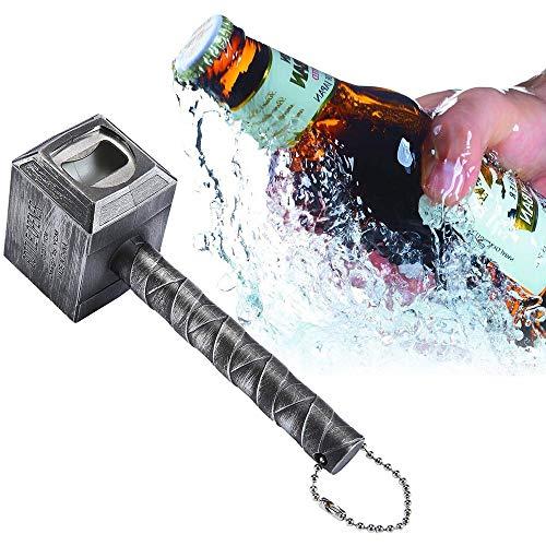 LYX Multi-funzione apribottiglie, Raytheon Martello Opener, Raytheon Opener, Beer Bottle Opener Cool Bar accessori regalo di compleanno Men (Color : Brass)