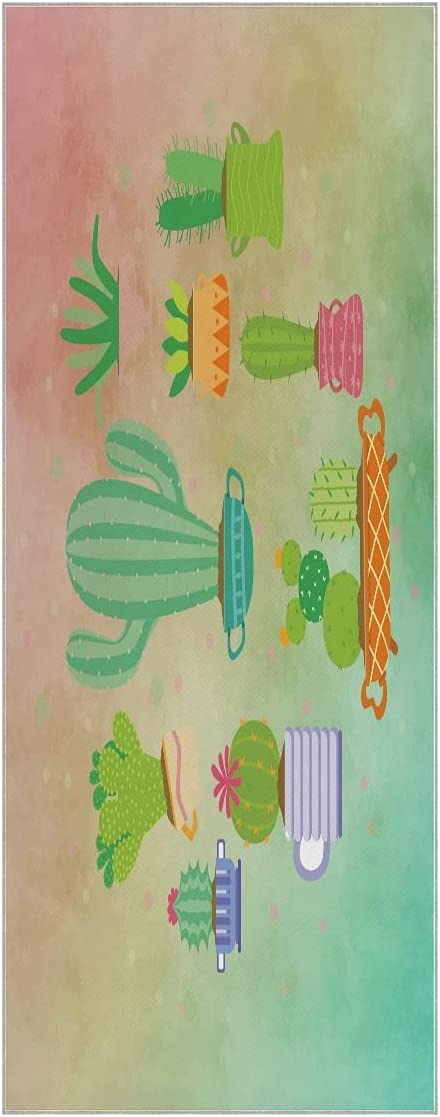 FVFV Colorful Cacti Succulent Yoga Towel Slip Mat High quality Super Easy-to-use Soft Non
