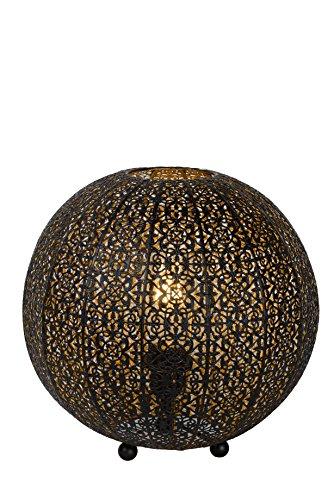 Lucide TAHAR - tafellamp - Ø 33 cm - E27 - zwart