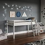 Vida Designs Sydney High <span class='highlight'>Sleep</span>er Cabin Bunk Bed With Ladder, Solid Pine Wood Frame, <span class='highlight'>Kids</span> <span class='highlight'>Children</span>, Single 3 Foot, <span class='highlight'>White</span>