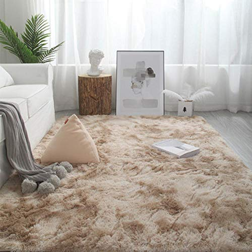 LHSOO Alfombra Alfombra Sala de Estar Dormitorio Alfombra de Noche sofá nórdico Minimalista cojín de Noche Mesa de Centro Alfombra de Seda 80x120cm 4