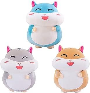 Lumumi Cute Funny Plush Toy, Kawaii Cartoon Fat Hamster Plush Toy Pillow Soft Stuffed Doll 35cm (Yellow)