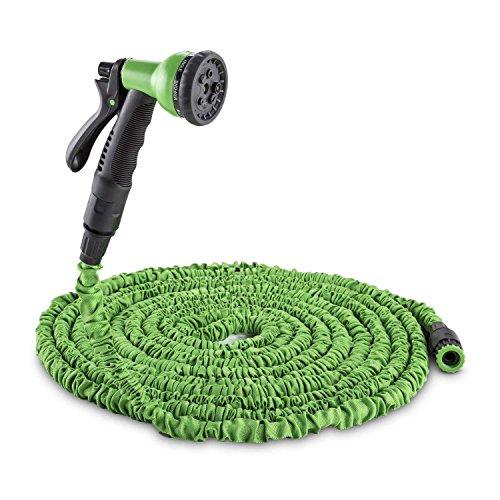 CNMF Tuinslang, flexibele waterslang, flexibele slang, irrigatie, 8 functies, rekbare sproeidouche, zelfoprollend, waterkraan-adapter, snelkoppeling