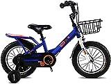 YAOJIA Bicicleta correpasillo niño Bicicleta para Niños De 14 A 18 Pulgadas con Ruedas De Entrenamiento Durante 3-13 Años | Bicicleta para Niños Altura De Asiento Ajustable 85% Montada