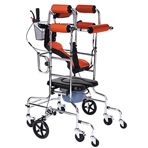 TXDWYF Rollator un Leicht/Gehbock für Senioren/Gehgestell mit Räder/Gehrahmen/Gehhilfen senioren/Gehgestell/Rollator Gehgestell für Senioren/Rollator Wohnung,Women,withtoilet