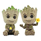 Baby Groot Maceta, maceta para macetas suculentas Tree Man, maceta para plantas verdes con orificio de drenaje, portalápices, adorno de oficina, maceta para regalo de cumpleaños, Navidad