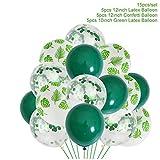 FFDGHB Ballons de fête Ballons en Latex Ballons Verts Feuilles de Palmier Forêt Animale Ballons en Aluminium Safari Ballons de fête