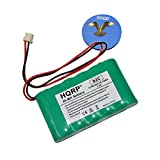 HQRP 2100mAh High Capacity Backup Battery compatible with Ademco Honeywell LYNX PLUS TOUCH L3000 L5000 L5100 L5200 L7000 LYNXRCHKITSHA LYNXRCHKIT-SHA 300-03866 WALYNX-RCHB-SHA Replacement plus Coaster