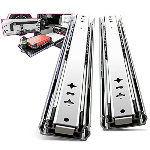 AOLISHENG 1 Paar (2 Stück)Schwerlast schubladenschienen vollauszug 800 mm 80 Kg Tragkraft Schubladenschiene Schwerlast Teleskopschiene