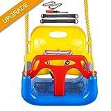 IMMEK Columpio Infantil Columpio 3 en 1 con Respaldo y Protección Frontal...
