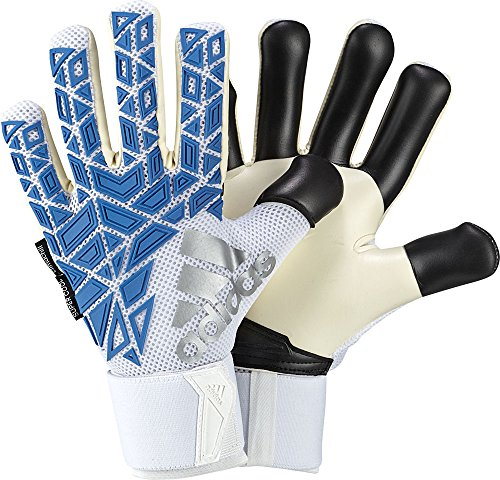 Adidas Ace Trans Guantes de Portero, Adulto, Unisex, Color White/Shock Blue/Black, tamaño 10