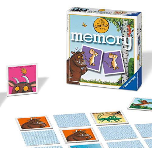 Ravensburger The Gruffalo Mini Memory Game - Matching Picture Snap Pairs Game For Kids Age 3 Years and Up
