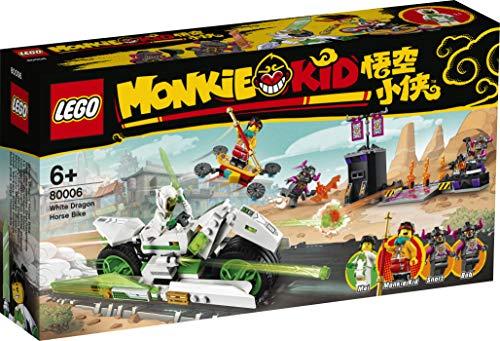LEGO Monkie Kid 80006 - Juego de bicicletas de dragón blanco
