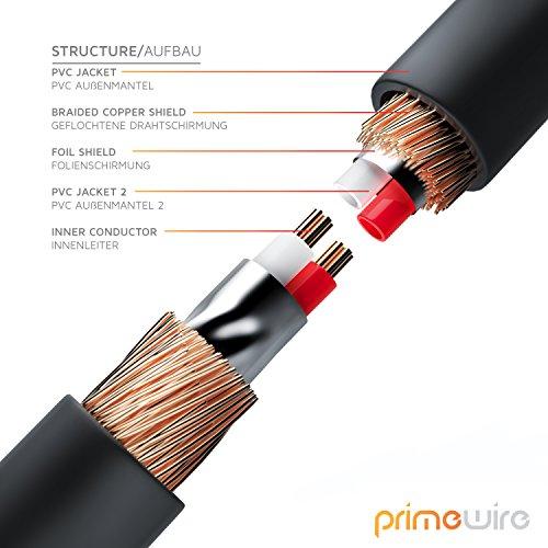CSL - 1m Audio Klinkenkabel 90 Grad gewinkelt Verbindungskabel für AUX Eingänge - 90° Winkelstecker - Voll-Metallstecker - passgenau - 3,5mm Audiokabel HQ Premium Series