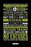 Pyramid America Workout Posters for Home Gym Feel The...