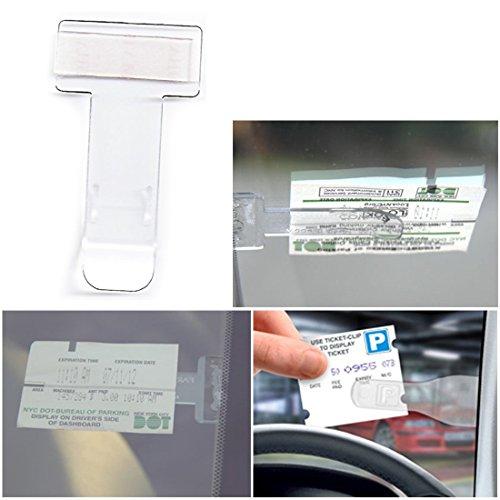 JJOnlineStore - 2x Parkscheinklammerhalter für Motorrad, Windschutzscheibe, Fahrzeug, Auto