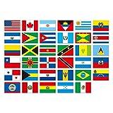 ムーングラフィックス ポストカード 国旗 アメリカ カナダ SET19