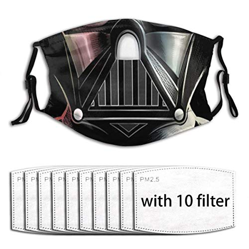 Darth Vader Unisex Windproof and Dustproof Mouth Mask, Face Cover with Adjustable Elastic Strapwith 6 Filter