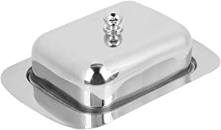 Butter Dish Stainless Steel Cheese Dish Tray Good Grips Butter Box Food Storage Dessert Container Keeper with Lid
