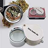 Sticky Bandits 30X Jeweler's Loupe Magnifier, Foldable Solid Steel for Plants and Gardening