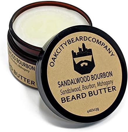 OakCityBeardCo Sandalwood Bourbon 4oz Beard Butter Beard Conditioner product image