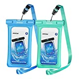 Mpow 084 Waterproof Phone Pouch Floating, IPX8 Universal Waterproof Case Underwater Dry Bag Compatible iPhone 11 Pro Max/XS Max/XR/X/8P/7P Galaxy S10/S9 Note 10/9 Google Pixel Up To 6.5' (Blue+Green)