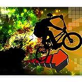 murando - Fototapete Graffiti 400x280 cm - Vlies Tapete - Moderne Wanddeko - Design Tapete - Wandtapete - Wand Dekoration - Street Art bunt hip-hop i-B-0054-a-a