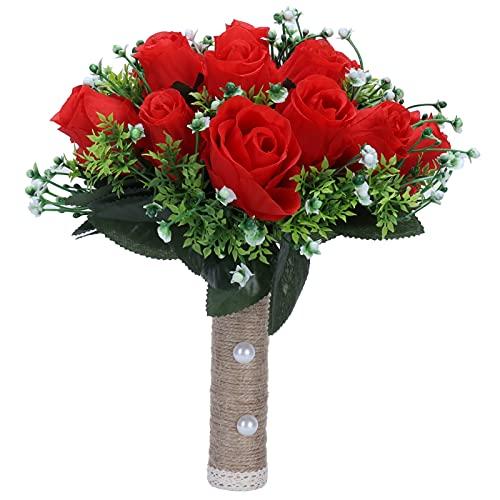 Buquê artificial, buquê de flores inovador para sala de estar para casamento para palco para noiva