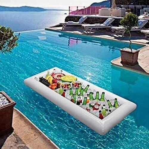 HJQFDC Klappungsschwimmbad, Wasserluftmatratze, PVC-aufblasbarer Eisdamm, aufblasbarer EIS-Tank Eiskübel, aufblasbarer Pool Salatplatte Party Spielzeug Peng MEI