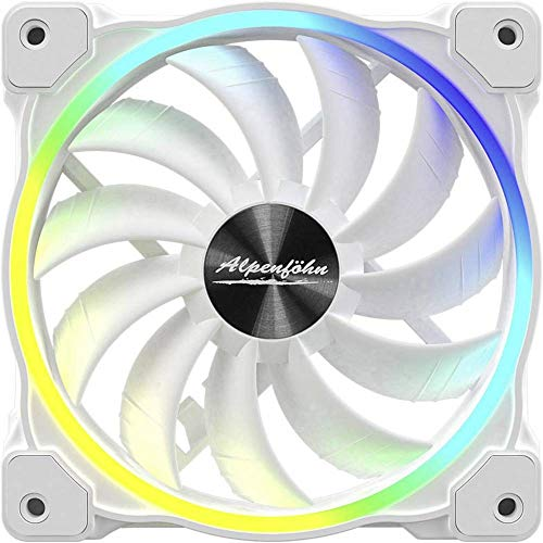 Alpenföhn Wing Boost 3 High Speed 120x120x25 Gehäuselüfter, weiß, Einzellüfter