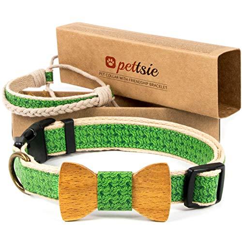 Collar con pajarita para perros y brazalete de amistad marca Pettsie