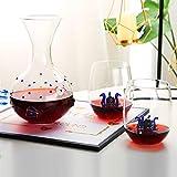 N / A 1L Vino de la Jarra, Creativo cristalino de Cristal, sin Plomo, Jarra con 2 x Copas de Vino, 380 ml, Set