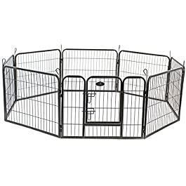 Easipet Heavy Duty 8 Panel Whelping/Playpen Run, Metal Folding Cage