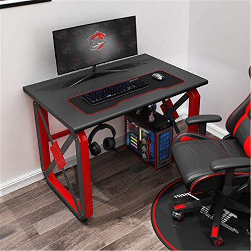 Mostrador de Juegos de PC Escritorio computadora escritorio hogar dormitorio internet café fresco profesional deportes súper grandes juegos de juego Fuerte y Robusto ( Color : Black2 , Size : 80cm )