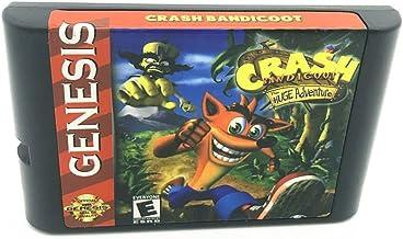 Royal Retro Crash Bandicoot pour console de jeux vidéo Sega Genesis et Mega Drive 16 bits (noir)