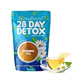 Skinny Boost 28 Day Detox Evening Tea-(14 Tea Bags)- Detox and Cleanse Naturally. Reduce Bloating, Release toxins and Increase Energy for Weight Loss. The Best teatox Tea