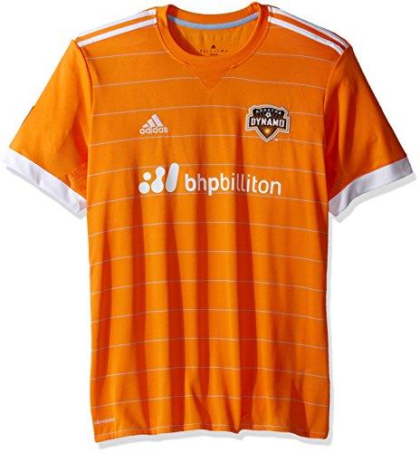 MLS Houston Dynamo Adult Men Replica Wordmark s/jersey,Small,Orange