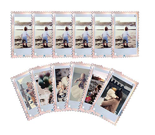WINKINE Acrylic Fridge Magnetic Frame 2x3, 12 Pack Iridescent Double Sided Magnet Picture Photo Frame for Fujifilm Instax Mini 9 8 8+ 70 7s 90 25 26 50s Film, Polaroid Z2300, Polaroid PIC-300P Film