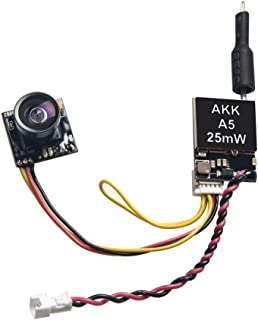 AKK A5 5.8Ghz 25mW FPV Transmitter 600TVL CMOS Micro Camera Support OSD Switchable Racebandfor Quadcopter Drone Like Tiny Whoop Blade Inductrix