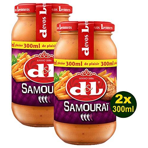Devos Lemmens D & L Samourai Sauce 2x 300ml (600ml) - Scharfe Soße …